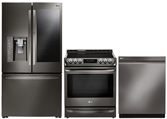 LG BLACK STAINLESS KITCHEN PACKAGE - LDP6797BD, LFXC24796D, LSE5613BD