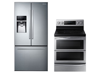 Samsung Electric Range French Door Refrigerator Package