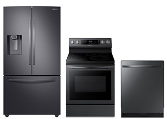 Samsung 3pc Appliance Package in Black Stainless Steel