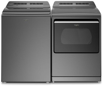 Smart Top Load Washer and Top Load Electric Dryer