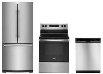 Whirlpool 3pc Appliance Package in Stainless Steel