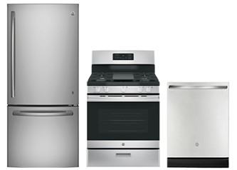 GE Appliances 3pc Appliance Package Gas
