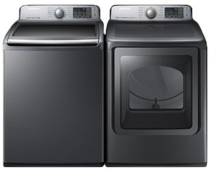 SAMSUNG TOP LOAD LAUNDRY PAIR