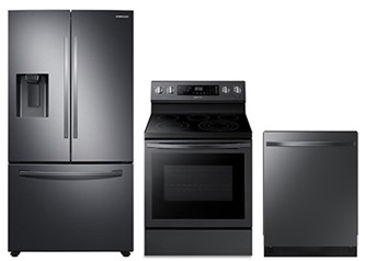 3pc Kitchen Package in Black Stainless Steel