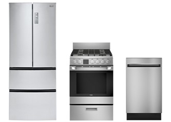 Haier 3pc Appliance Package in Stainless Steel