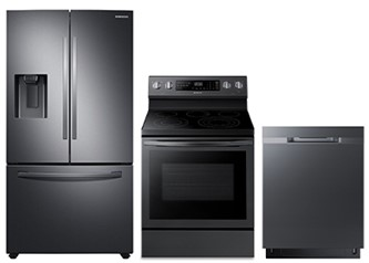 Samsung Kitchen Package  in Black Stainless Steel
