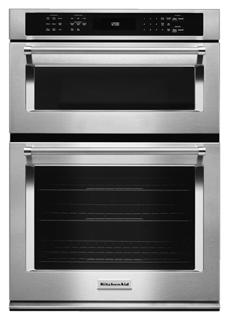 """KitchenAid® 30"""" Combination Wall Oven with Even-Heat™ True Convection (lower oven) - Stainless Steel"""