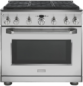 "36"" Pro Range - Dual Fuel with 6 Burners"