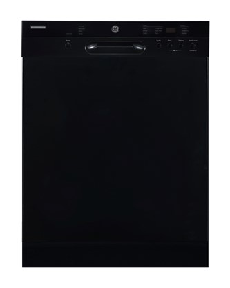"""GE 24"""" Built-In Front Control Dishwasher with Stainless Steel Tall Tub Black - GBF532SGPBB"""