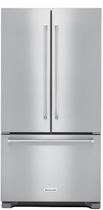 22 cu.ft. 36-Inch Width Counter Depth French Door Refrigerator with Interior Dispense - Stainless Steel