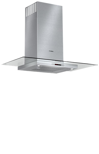 """Benchmark 36"""" Glass Canopy Chimney Hood Benchmark Series - Stainless Steel"""
