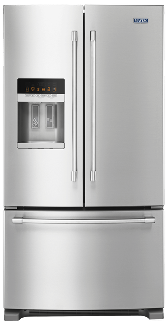 Maytag™ 36- Inch Wide French Door Refrigerator with PowerCold™ Feature - 25 Cu. Ft.