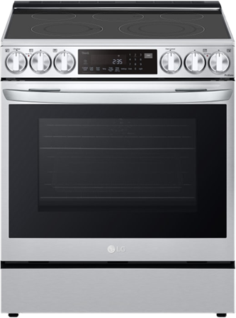 6.3 cu ft. Smart Wi-Fi Enabled ProBake Convection™ InstaView™ Electric Slide-in Range with AirFry