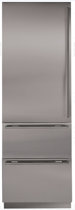 """27"""" INTEGRATED OVER-AND-UNDER REFRIGERATOR/FREEZER WITH ICE MAKER - PANEL READY"""